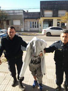 El detenido por robo.