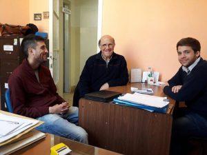 Preiato y Cáceres reunido con Aldo Zanlungo.