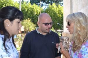 Lucero y Bonano durante la entrevista con Mónica del Castillo.