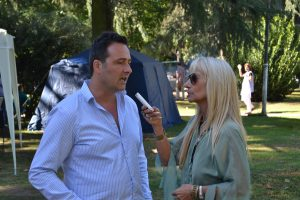Aiola en la entrevista con del Castillo.