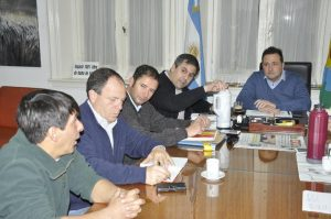 Aiola reunido con los Delegados de las Localidades.