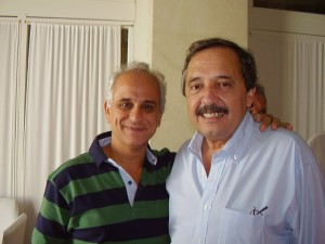 Daniel Yaber junto a Ricardo Alfonsín.