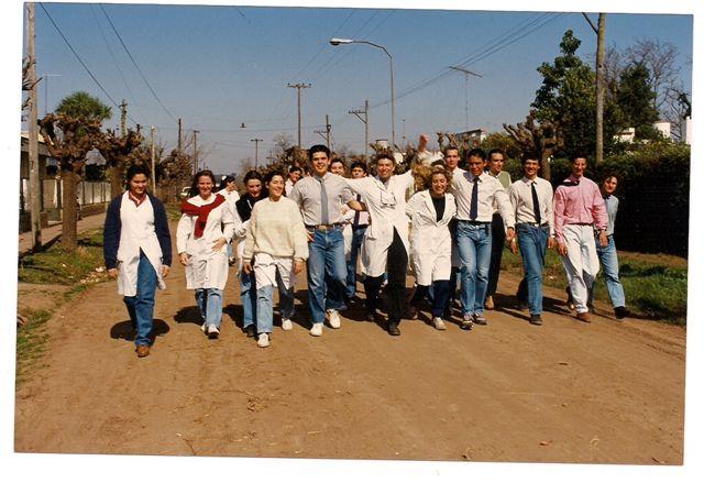 Década del 90 Promoción  l992, Semana del Estudiante festejada por esa promoción.