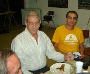 Hugo Gorgone junto al presidente del Comité Alem Dr. Mariano Cámera.