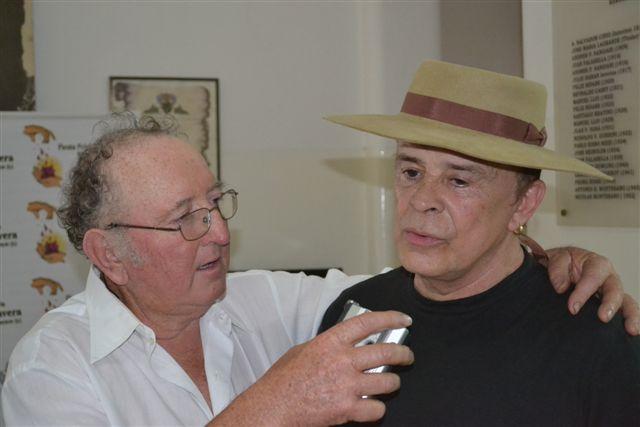 Antonio Tarragó Ros dialogando con Rodolfo Rubiolo para su programa Entreverando.