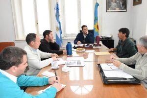 Aiola con los Delegados Municipales.
