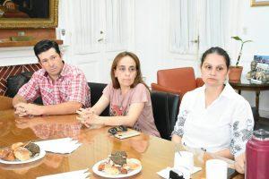 Aiola con Comisión Directiva de Bomberos Voluntarios de O´Higgins.
