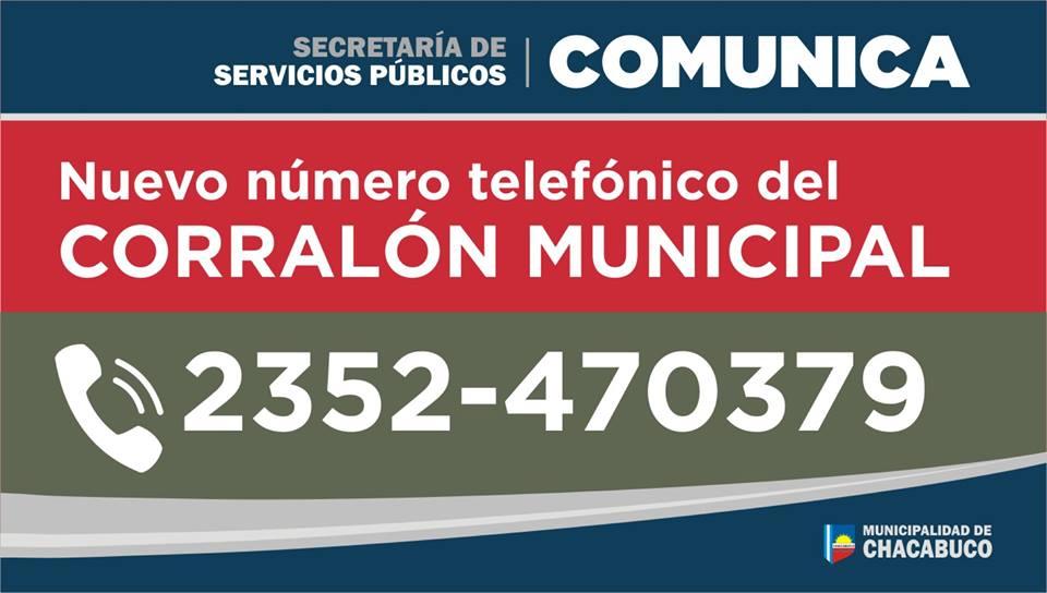 Nuevo número del Corralón Municipal de Chacabuco