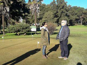 Entrega de material de primeros auxilios par el Golf Club Chacabuco