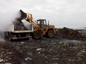 Limpieza en el basural de Chacabuco