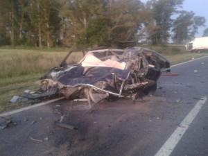 Imagen del terrible accidente.