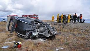 Imagen del accidente que le costara la vida a siete personas.