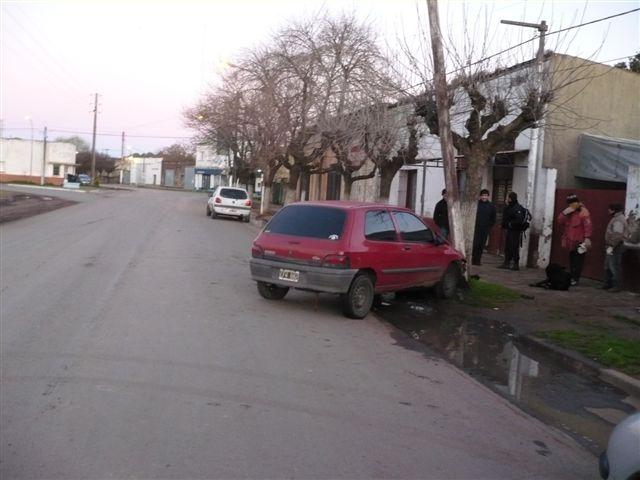 Imagen del accidente del pasado säbado en Avenida Vieytes.