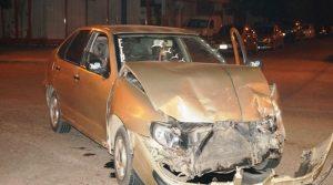 El Seat Córdoba involucrado en el accidente.