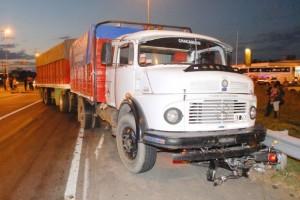 Imagen del accidente ocurrido en Junín, sobre en RN 7 y B. de Miguel .
