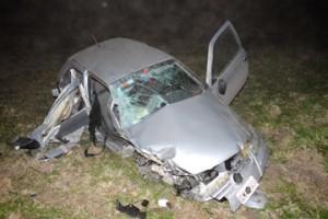 Estado en que quedó el auto del concejal Peralta.