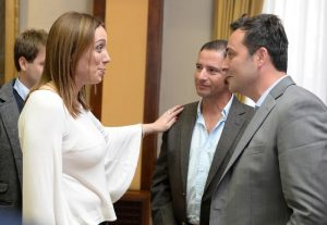 Aiola y Gómez fueron recibidos por Vidal.