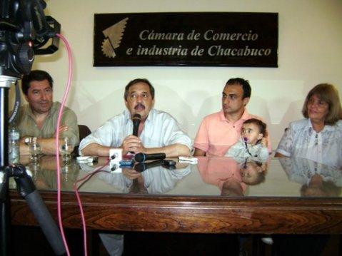 Stéfano, Alfonsín, Cámera y rodriguez.