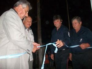 Luz, Micucci, Ostolaza y Zanlonghi en el corte de cintas.