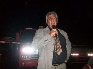 El presidente de la C.D. Hugo Alejandro Luz se dirige a los presentes.