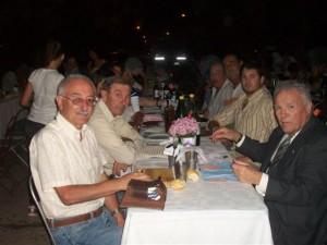 Algunos de los presentes en la cena.