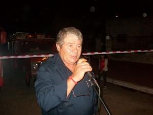 El Jefe del Cuerpo Activo Haroldo Zanlonghi fue otro de los oradores.