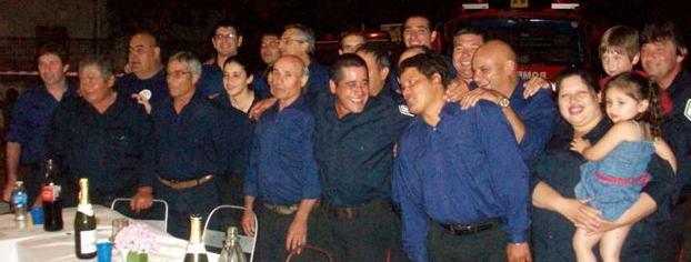 Cuerpo Activo del Cuartel de Bomberos Voluntarios de Rawson.