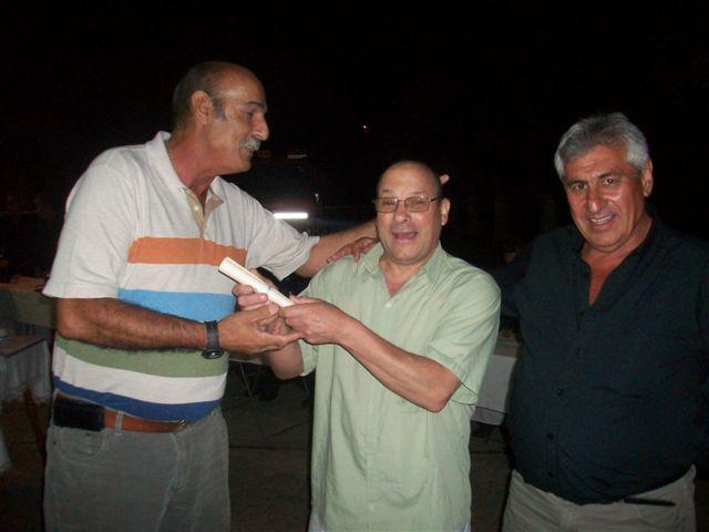 Carlos del Campo, Luís Minadeo y Hugo Luz terminada la cena.