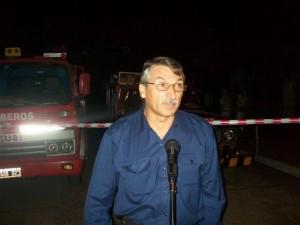 El Bombero Aimore Papini habló en representación del Cuerpo Activo.