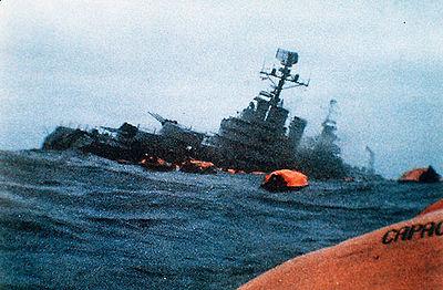 El ARA General Belgrano, antes de hundirse
