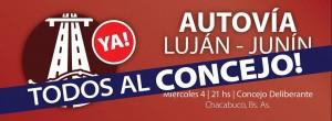 Representantes asamblea vecinal por la Autovía Luján – Junín.