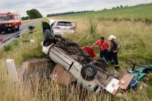 Imagen del accidente. Foto: Marcelo Kehler.