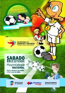 Encuentro Recreativo de Fútbol Infantil en Chacabuco.