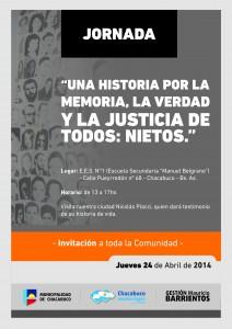 Jornada por la Memoria.