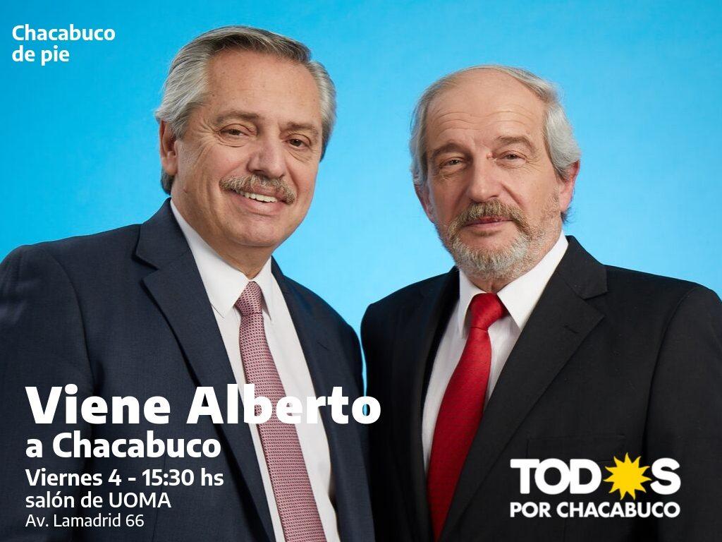 Alberto Fernández visitará Chacabuco.