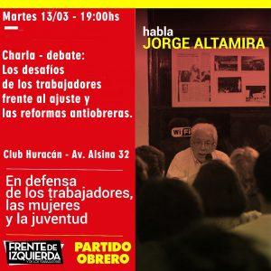 Jorge Altamira en Chacabuco.