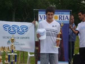 Gianfranco Barranco en la entrega de premios.