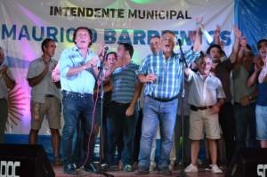 Masivo apoyo a la gestión del Intendente Barrientos.