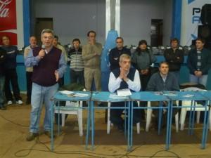 Barrientos, Domínguez, Golía y los candidatos a concejales.