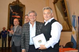 Barrientos recibió a Horacio González.