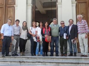 Barrientos en  la Universidad Nacional de La Plata.