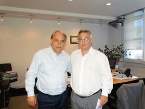 Barrientos junto al Ing. Fernando Abrate.