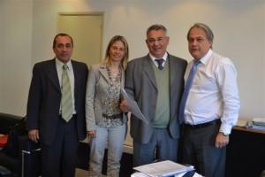Barrientos junto a la Delegada Municipal de Castilla María Luisa Álvarez en Vialidad Nacional.