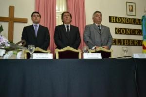 Barrientos en la apertura de sesiones del HCD de Chacabuco. Foto: Noticias Bonaerense.