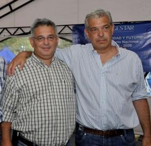 Barrientos junto a Domínguez.