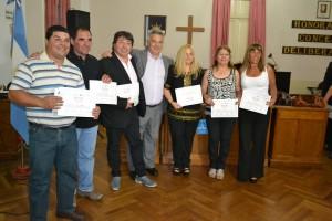 Trabajadores municipales egresaron del Programa de Terminalidad de Nivel Secundario.