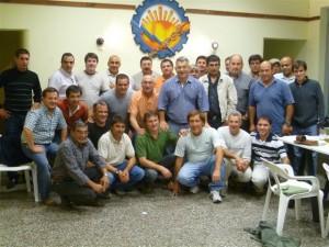 El precandidato a intendente Barrientos con representantes de gremios de Chacabuco.