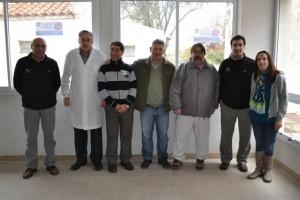 Barrientos recorrió obras en el Hospital de Chacabuco.