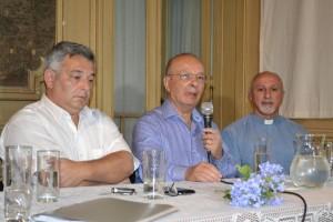 Mauricio Barrientos, Rafael Barrientos y el Pastor Fernando Suarez.