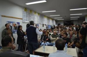Barrientos ayer en la Casa Peronista de Chacabuco.